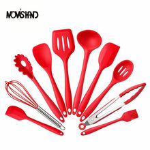 10Pce/set Silicone Kitchen Cooking Utensils Heat Resistant Baking Tools()