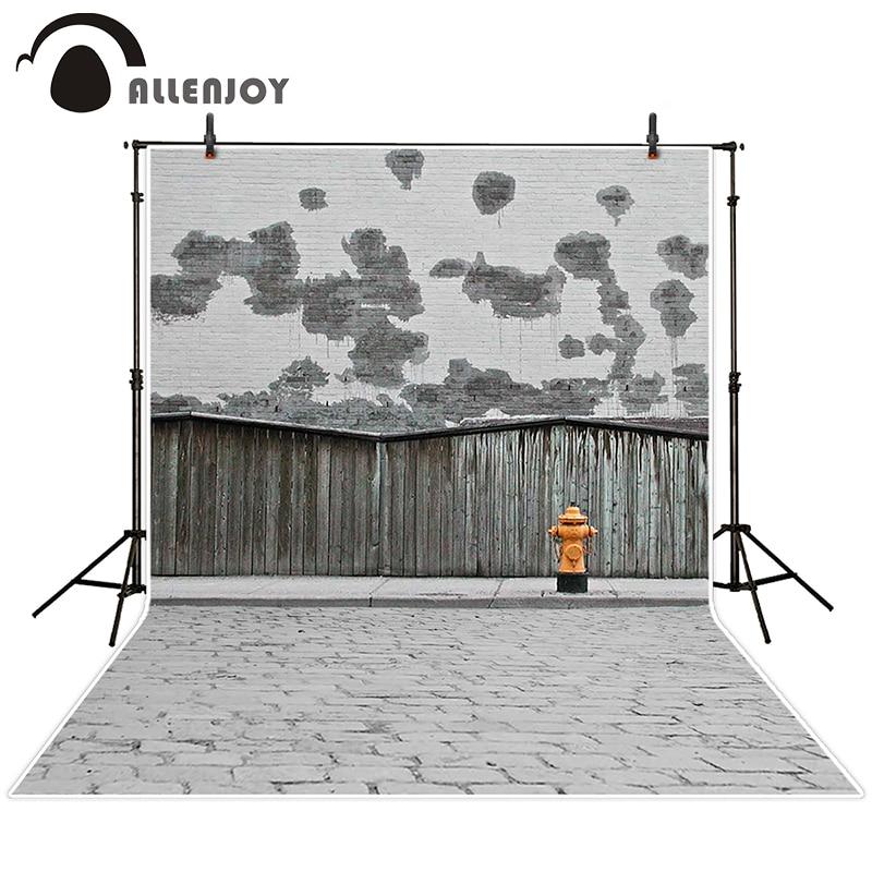 Allenjoy photographic background Brick wood fire hydrant backdrops kids wedding vinyl customize 7x5ft<br><br>Aliexpress