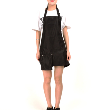 Black Color Apron With Big Pocket Simple Style Hairdressing Apron For Salon Household Working Cloth Antistatic And Anti-dirt