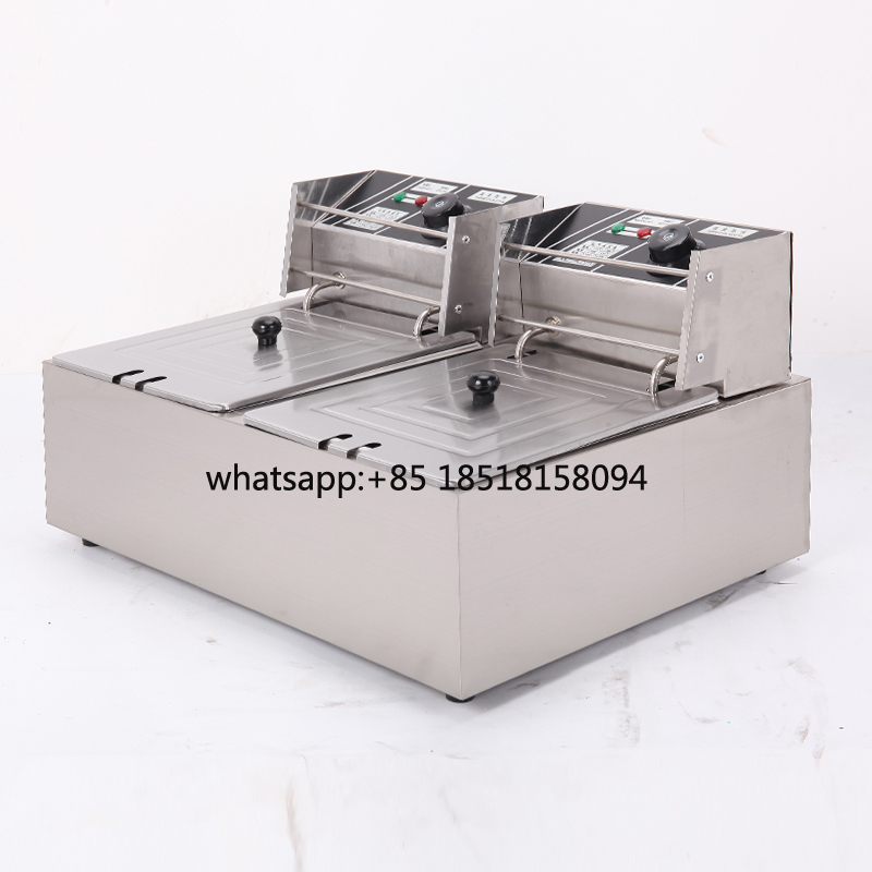 double head deep fryer