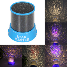 Room Novelty Night Light Projector Lamp Rotary Flashing Starry Star Moon Sky Star Projector Kids Children Gift Send in Random