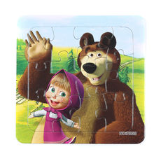 3D Paper jigsaw puzzles toys for children kids toys brinquedos Masha and Bear princess Baby toys educational Christmas gifts