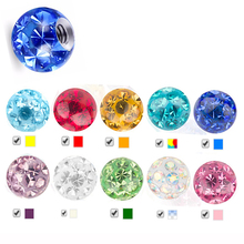 Showlove1pcs 16g&14g Crystal Ferido Epoxy CZ Stone Ball Piercing Accessories for Labret Nose Tragus Navel Lip Ring 3-10mm(China)