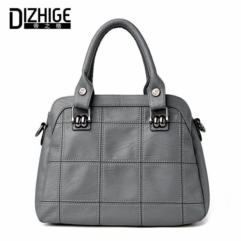 DIZHIGE Brand Genuine Leather Bag Women Sheepskin Luxury Handbags Women Bags Designer Ladies Shoulder Bags Famous 2017 Sac Femme<br>