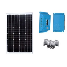 Solar Panel Kit Solar Module 12v 60W Solar Charge Controller 10A 12V/24V PWM LCD Display Z Bracket Mounts Camp Battery Charger