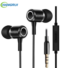 JMF H2 3.5mm In ear Earphones Best Bass Earphone Noise Reduction Sport Running Headset With Microphone