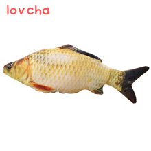 lovcha 40cmFree Shipping New crucian fish Pillow Stuffed Plush Animal Fish Toy little fish Stuffed Dolls Valentines for Baby(China)