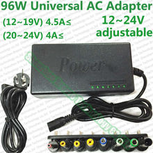 Brand NEW Factory direct sale price Top quality 4-4.5A 96W Universal Laptop AC Charger adapter with 8 common used connectors