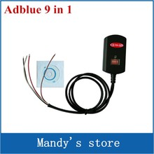 Hot!!! Newest Adblue 9 in 1 Universal Adblue Emulator NOT NEED ANY SOFTWARE 9in1 Truck AdBlue Emulation Box(China)