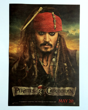 Johnny Depp Poster Caribbean Pirate Movie Star Poster Retro Kraft Paper Poster Decorative Painting/wall sticker(China)