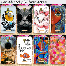 Cell Phone Skin Cover For Alcatel OneTouch Pixi First 4024 Cases Cute Style Design Soft TPU Top Quality Mobile Phone Accessories