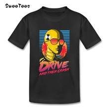 Drive And Crash T Shirt Baby Pure Cotton Short Sleeve Crew Neck Tshirt Children Tees 2017 Best Selling T-shirt For Boys Girls