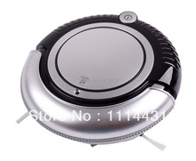 Free Shipping Mini Vacuum Cleaner Robot With Vacuum, 2pcs Side Brush Sweep, Mop,Flashing LED Lights,3 Working Modes