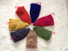 DHL/UPS Woolen Crochet Bow Headband Knitted Ear Warmer Winter Women Turban Head Wrap Hair Accessories 100 pcs/lot Free shipping