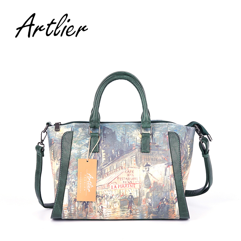 Women Handbags Leather Printing Tote Bags Female Fashion Crossbody Bag Lady Large Capacity Top-handle Trapeze Bags Shoulder Bags<br>