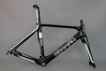 EN Quality china Carbon Road Bike Frame+Fork+Seat Post Clamp, Carbon Bicycle Frame no custom fee frame(China)