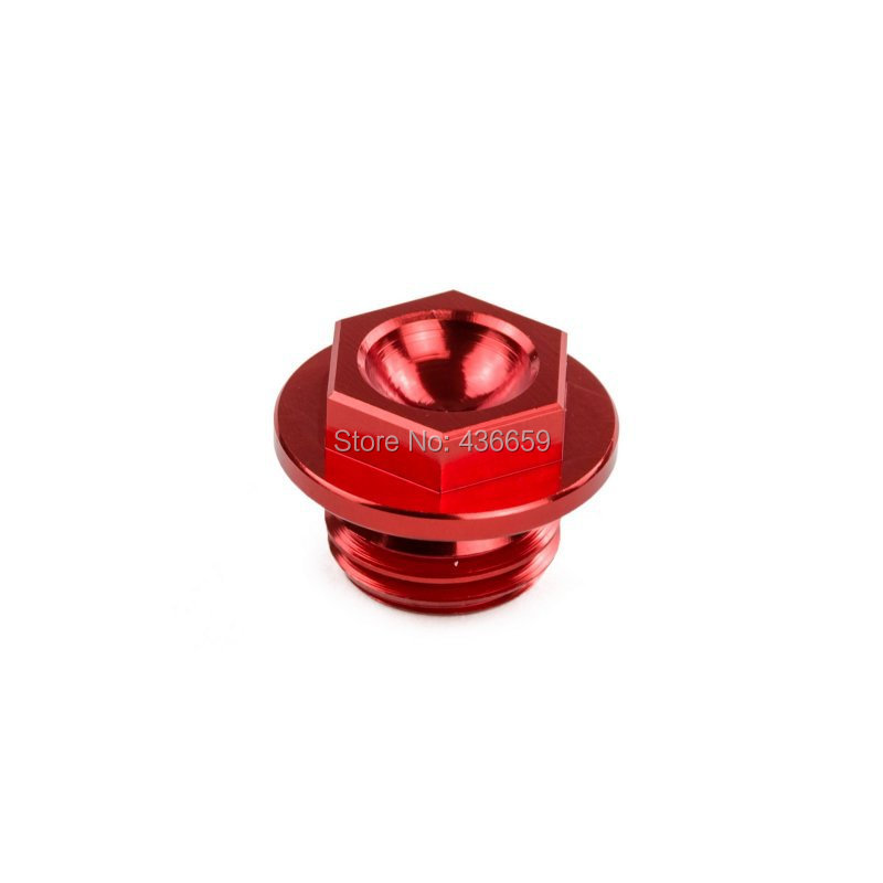 Oil Filter Cap Oil Plug Red Anodized For Yamaha YZ WRF YZF 80/85/125/250/450 YFZ450<br><br>Aliexpress