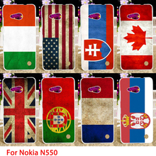 Soft TPU Cases For Microsoft Nokia Lumia 550 N550 4.7 inch National Flags Hard Cell Phone Cover Housings Bags Sheaths Skin Hood