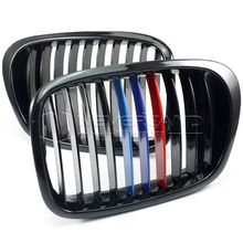 For BMW 5 Series E39 M5 1997-2003 Gloss Black + M-color Front Kidney Grille Grill Wholesale D10(China)
