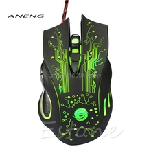 Professional 5500DPI Wired Gaming Mouse 6 Buttons USB Optical Backlight Mice For Computer Laptop High Quality Trade Price(China)