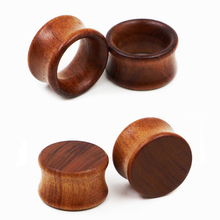 Cuibourtia Organic Wood Saddle Plug Gauges Ear Plugs Solid Plugs Tunnel Body Piercing Jewelry 1 PAIR=2 PIECES WSP028