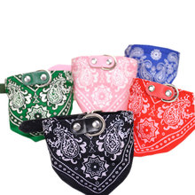Pet Accessories Lovely Dog Collar Scarf Fabric Adjustable Pet Dog Bandana Puppy Triangular Printed Scarf for Small Dogs Cats