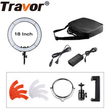 Travor RL-18 18inch big photography ring light with carry bag 240pcs led beads inside 55w ringlight lamp for makeup(China)