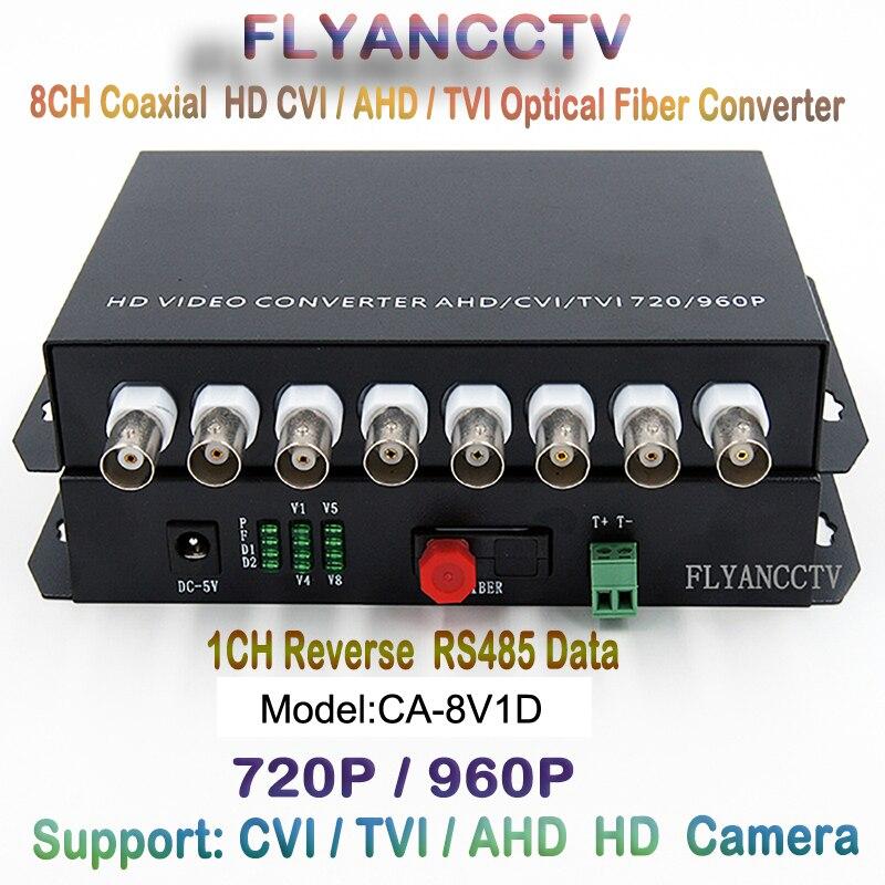 HD CVI 8 Channel Video RS485 data optical Media Converter Transmitter Receiver -1Pair for 720P 960P AHD CVI TVI HD cameras CCTV<br><br>Aliexpress