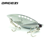 DAGEZI 5cm/10g Silver Metal Spinner Spoon Fishing Lure Hard Baits Sequins Noise Paillette Treble Hook Tackle