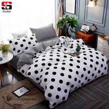 Sookie Dots Print Bedding Set 3pcs Modern Duvet Cover Sets With Pillowcases Twin Full Queen King Size Bed Linen Soft Bedclothes(China)
