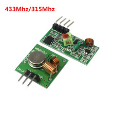 433Mhz RF Transmitter and Receiver Module Link Kit for ARM/MCU WL DIY 315MHZ/433MHZ Wireless for arduino Diy Kit(China)