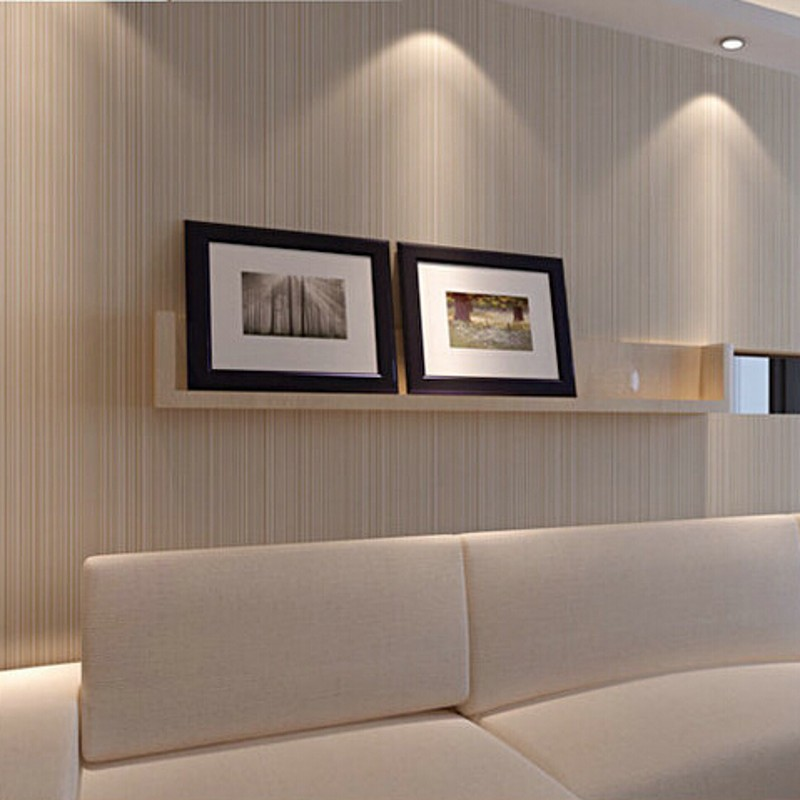 beibehang Modern Minimalist Style Wall Paper Striped Solid Color Non Woven Wallpaper Living Room Tv Sofa Background Wallcovering<br>