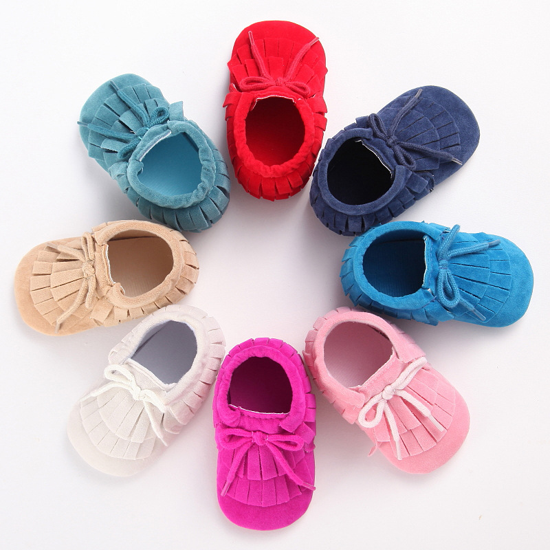 1pair retail new Suede leather baby moccasins soft boots moccs Baby soft shoes fringe Toddler shoes boot free shipping<br><br>Aliexpress