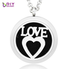 2017 Mix Design perfume hollow necklace 30MM DIY silver 316L stainless steel magnetic round aromatherapy hollow Cage Pendants