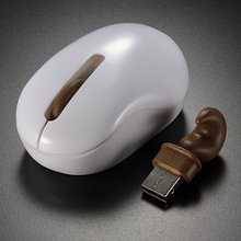 Mini Cute computer mice wireless gaming mouse gamer 1600dpi USB Wireless Optical Animals Tails Squirrel