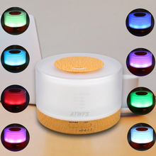 500ml Remote Control Ultrasonic Humidifier Fogger Aromatherapy Diffuser Essential Oils Nebulizer Timer Settings LED Aroma Lamp(China)