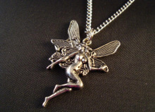 Women Holiday Gifts  - Fairy Guardian Angel -  Charms Pendants Necklace Fashion Vintage Silver Protection Spiritual Jewelry