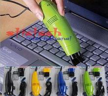 by dhl or ems 200 sets Mini USB Vacuum Keyboard Cleaner Brush Dust Scrap Machine For PC Laptop Computer New Portable