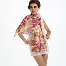 100% Mulberry Silk Women Scarf Summer&Fall Floral Printed Scarf Luxury Brand Shawl Scarves  172*55 cm