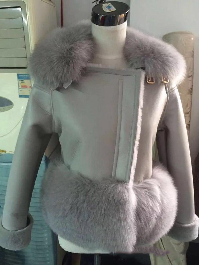 genuine sheep leatherskin jacket fox fur cooar coats (29)