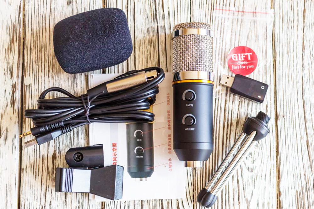 MK-F200FL Condenser Microphone Profesionales Wired 3.5mm Jack With Tripod USB Microphone For Computer Laptop PC Recording Studio 11