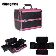 Professional Women Makeup Cosmetic Storage Box Large Capacity Dresser Cosmetic Makeup Organizer Portable Cosmetic Container Bag(China)