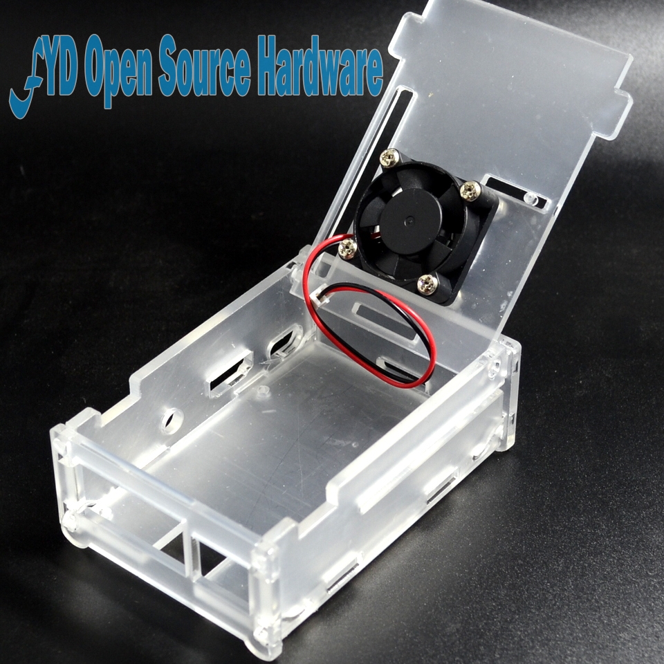 Clear Acrylic Case with Cooling Fan for Raspberry Pi 2 Model B 1GB