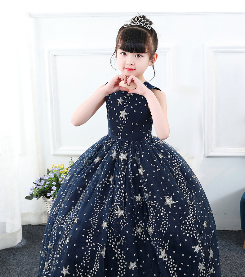 Glittery Leaf Print Strapless Dress-Doll Clothes