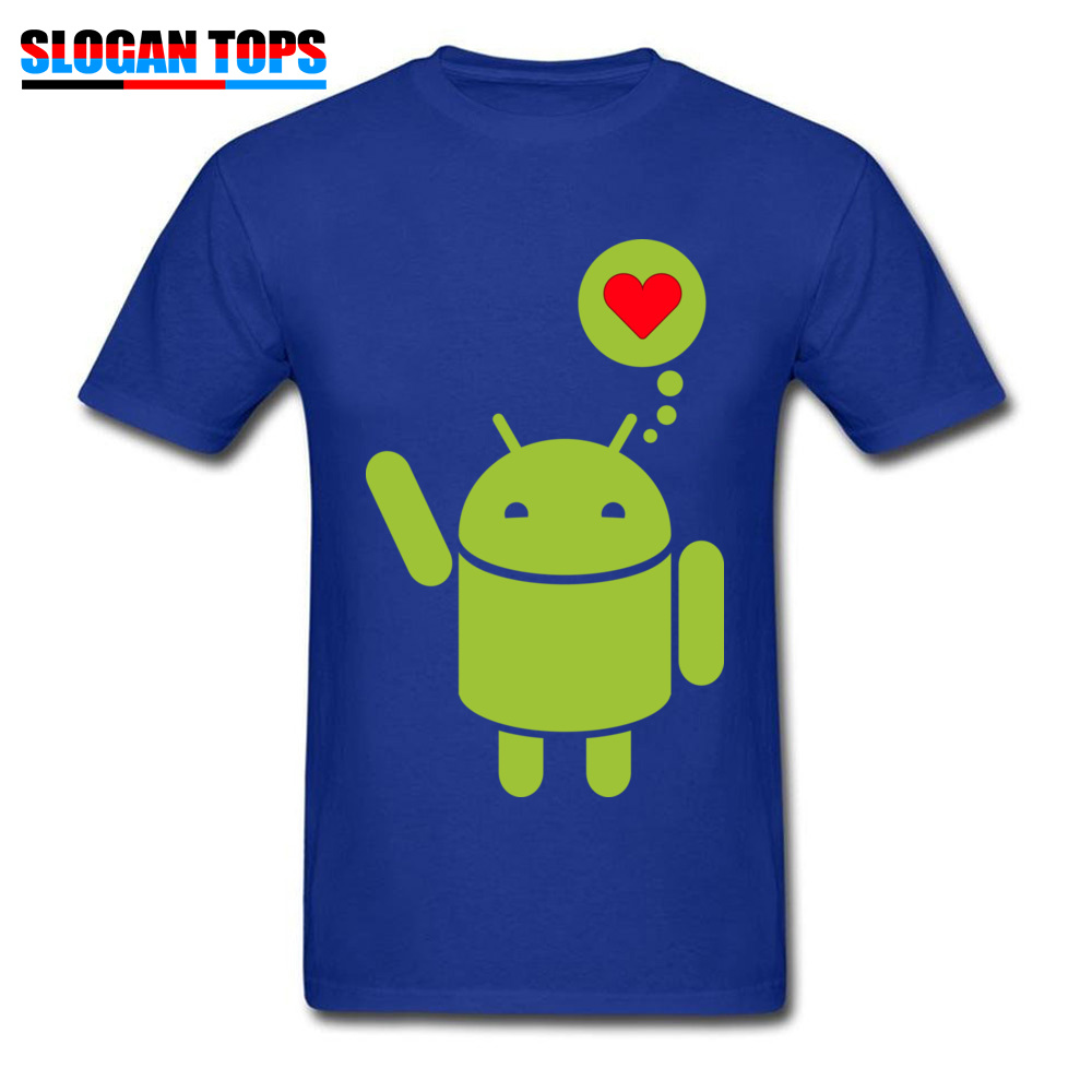 Droid in Love Thanksgiving Day 100% Cotton Round Neck Tops & Tees Short Sleeve Casual T-Shirt Coupons Custom Tshirts Droid in Love blue