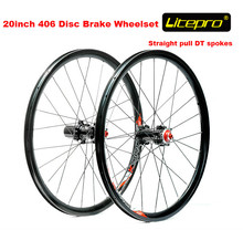Litepro straight pull 20 inch 406 wheelset BMX folding bike disc brake wheel set 406 wheel set 100mm/135mm