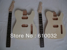 New Unfinished electric guitar body Solid wood 1 set   and one neck #1f