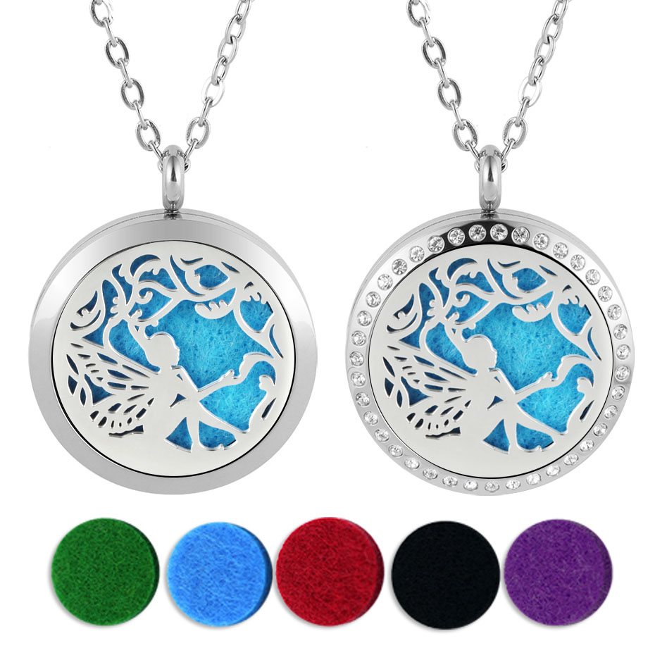 fair diffuser necklaces silver gold rose gold 20mm 25mm 30mm locket jewelry -219 (1)
