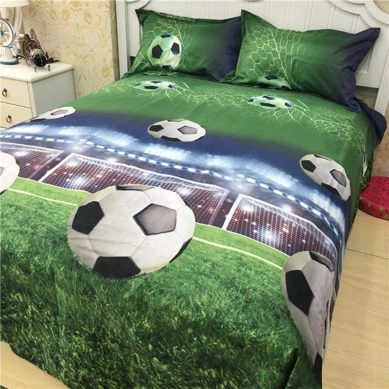 3D Football Duvet Cover Bedding Set Pillowcase Soccer Quilt//Comforter Cover Set