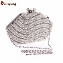 Women's Single Side Star Shaped Pearl Diamond Evening Bag Handmade Beaded Day Clutches Party Handbag Craft Pearl Shoulder Bag